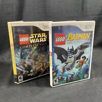Wii Lego Star Wars The Complete Saga And Lego Batman The Videogame, 2 Games WOW!