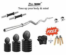 Protoner  22kg with 3 rods weight lifting home gym fitness pack