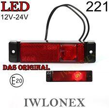 1x LED UMRISSLEUCHTE Markierungsleuchte Rot POSITIONSLEUCHTEN 12V 24V ABE 222
