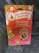 Vtg 1982 Strawberry Shortcake with a Birthday Cake Figure Kenner Miniature Doll
