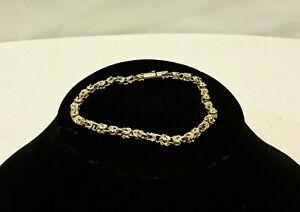 14 Karat Solid Yellow Gold Bracelet Byzantine,  8 1/2 Inches, 4.78 MM , 12.3G