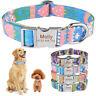 Dog Collar Personalized Adjustable Custom Engraved Pet Puppy Name Orange Fabric