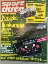 sportauto 12/85: Datsun 240 ZX, Nissan 300ZX, Alfa 75, Honda CRX, Toyota Corolla