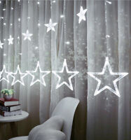 LED Fairy Star String Lights Indoor Curtain Christmas Tree Wedding Decoration