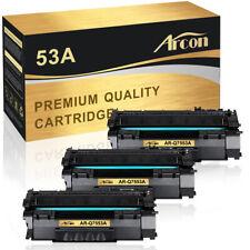 3PK Toner Compatible for HP 53A Q7553A Canon LBP3300 LaserJet P2015d P2014n 1320