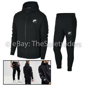 Nike Air Tracksuit Set Full Zip Cotton Fleece Hoodie Joggers Bottoms Slim Fit
