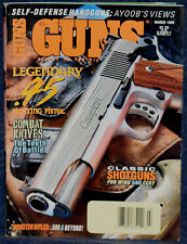 Magazine *GUNS* March, 1998 !! REMINGTON Model 597 .22 RIFLE !! *COMBAT KNIVES*