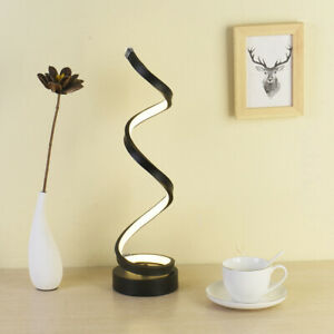 Dimming 12W LED Desk Lamp Button Plug Color-Temp Changeable Modern Decor Light