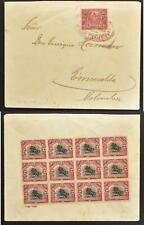 GUATEMALA 1920 UNUSUAL Multifranked Cover Cover to Colomba ; mUST look
