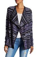 Lucky Brand Lotus Blue Knit Cardigan Size M Medium