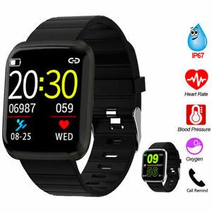 Bluetooth Smartwatch Armband Pulsuhr Blutdruck Fitness Tracker Uhr Wasserdicht
