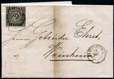 BADEN 1860 9 auf schönem BRIEF 100€++(J7789