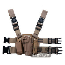 Tactical CQC Serpa Quick Right Leg Holster w/ Magazine Pouch for Colt 1911 M1911