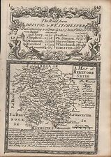 1720 Ca ANTIQUE COUNTY MAP - OWEN & BOWEN HEREFORDSHIRE