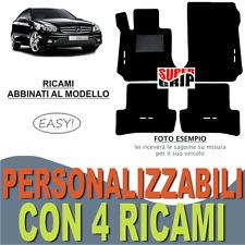 TAPPETINI AUTO SU MISURA PER MERCEDES CLASSE CLC IN MOQUETTE + 4 RICAMI EASY