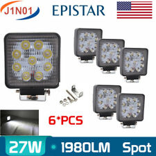 6PCS 27W LED SPOT Work Light Bar Fog Driving Lamp Truck Tractor SUV 9LEDs 12V24v