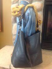 Lucky Brand Large Black Leather Slouchy Boho Shoulder Bag