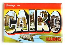 Greetings from Cairo Illinois Fridge Magnet travel souvenir