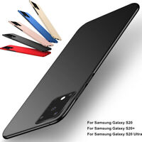 For Samsung Galaxy S20 Plus S20 Ultra Luxury Plastic Thin Back Phone Case Cover