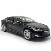 1:32 Tesla Model S 100D Die Cast Modellauto Spielzeug Schwarz Sammlung mit Ton