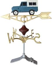 Cast Iron Landrover Weather Vane with Ridge Mount Stand Attachment Painted - New