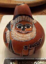 Vintage Carved Native Peruvian Santa Folk Art Tribal WOW!!!