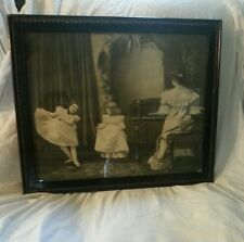Vintage Jos Hoover & Son Copyright 1900 Dance Lessons picture in OLD frame.