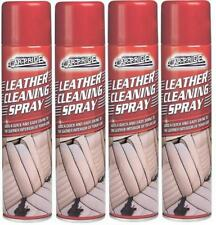 4 x Car Care Leather Cleaning Spray 300ml Quick & Easy Shine Leather Interior.