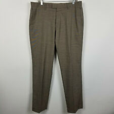Banana Republic Flat Front Slim Fit Light Brown Mens Dress Pants Size 35x32