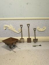 doll house furniture vintage metal garden tools  1.12th