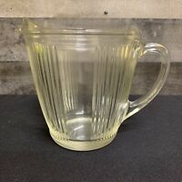 Vintage EKCO Chicago Ribbed Glass Pitcher 7216 Made in USA