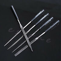 5Pcs Mini Needle File Set Sharpening 3*140*5mm Model Polishing