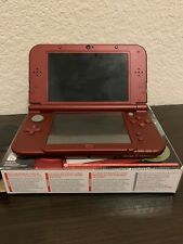 Nintendo 3DS XL Launch Edition Handheld Red Gaming System With Original Box