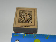 Stampin Up Single Stamp - Hummingbird collecting nectar from Flowers (Bird)