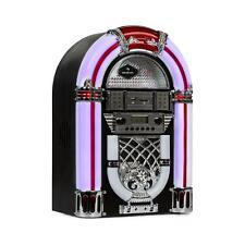 Jukebox Bluetooth Mini Chaîne Style Vintage 50's Radio FM USB SD Mp3 Lecteur CD