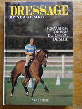 Reiner Klimke Dressage cheval de selle Editions Maloine 1991 équitation épuisé