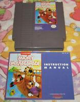 Mickey Mousecapade Disney Nintendo NES Video Game Cartridge + Manual Book Works