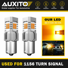 AUXITO 1156 BA15S 7506 Amber LED Turn Signal Indicator Light Bulbs Error Free D