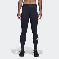 Adidas Esencial Haves Mujer Azul Insignia De Deporte Mallas SPORTS Gym Training