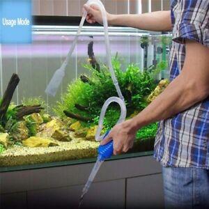 Fish Tank Vacuum Siphon Pump Cleaner Aquarium Water Changer Gravel Free Shipping