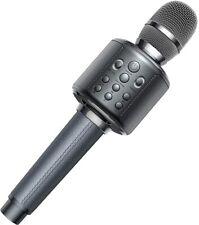 Karaoke Microphone,Wireless Bluetooth Karaoke Microphone, 4-in-1 Portable(Black)