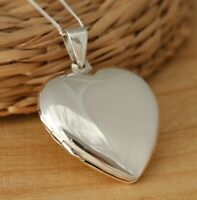 925 Sterling Silver Extra Large Heart Locket Pendant Necklace Box UK Hallmarked