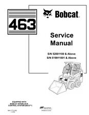 New Bobcat 463 Skid Steer Loader Updated 2006 Edition Repair Service Manual