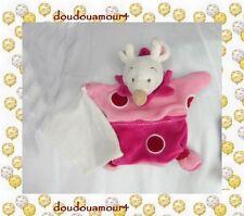 Doudou Souris Plat Marionnette Rose Fuschia Rond Mouchoir Doudou Et Compagnie