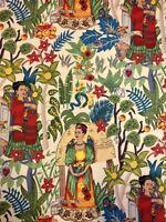 AH202  Frida Kahlo Frida's Garden Mexico Folk Art Jungle Cotton Quilt Fabric