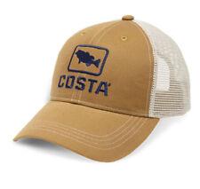 Costa Del Mar XL Fit Bass Trucker Hat, Working Brown