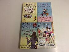 Sophie Kinsella books x4- Remember Me?, Mini Shopaholic, Shopaholic & Baby- GOOD
