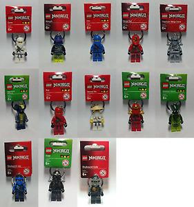 Lego Keyring Ninjago - Cole - Zane - Jay - Golden Ninja - Venomari - Sensei-Wu