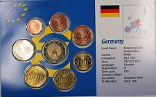 Germany Euro Uncirculated 8 Coin Set Mixed Dates 1999-2002