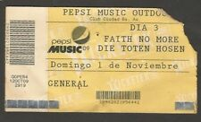 Argentina Faith No More Concert Ticket Stub 2009